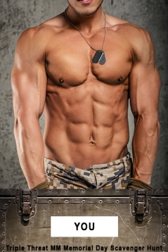 Part of body. Chest and stomach. Army pants